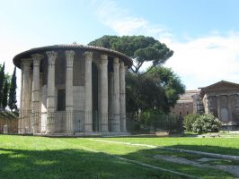 Temple in the Forum Boarium by Syltorian