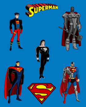 Reign of the Supermen DCAU Style by Alexbadass