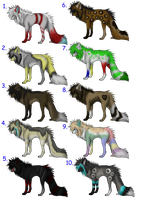 10 Point Wolf Adopts CLOSED by Pineaapple