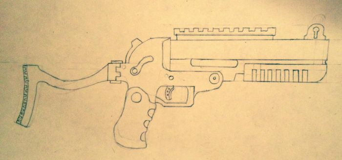 25mm Portable grenade launcher by prodoomer1