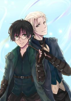 Aurors Potter and Malfoy by arisa-chibara