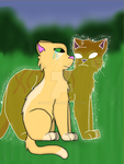 Firestar and Sandstorm by Artmoon18