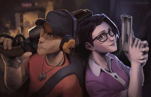 scout and Ms.Pauling. by Timoyan