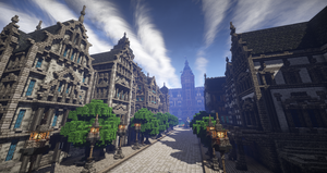 Main street of Elsterburg by Arminius1871