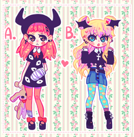 Pastel Goth/Gringe Adoptable Auction CLOSED by BuenasnochesLilDucky