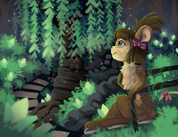in the forest by rottingichor