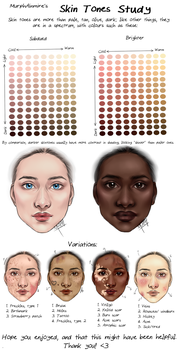 Skin Tones Study by MurphAinmire