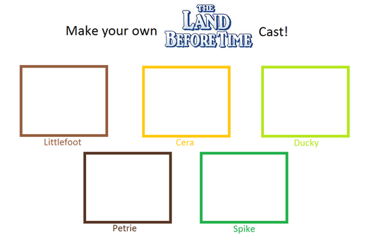 Make Your Own Land Before Time Cast by DEEcat98