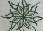 Green leaves cross stitch by BellaGBear