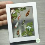 Koi Pond Picture Frame, Version 2 by Bon-AppetEats