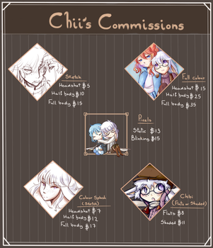 Chii's Commission Status: Open by LilChiisai