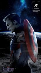 Poster: Captain America New Suit | Avengers 4 by 4n4rkyX
