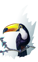 Toco Toucan by Lahvorre