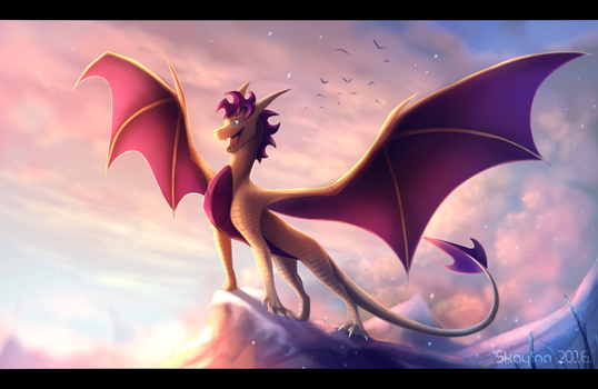 Here comes the king! by Skaylina