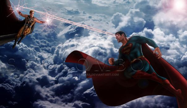 EVIL SUPERMAN VS NUCLEAR MAN by supersebas
