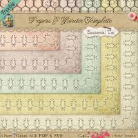 Free CU Doodle Frame, Border Template and Papers by starsunflowerstudio