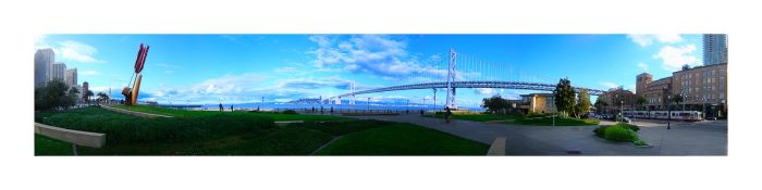 San Francisco Bay Bridge Pan by ThatFunk