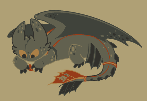 Toothless Loves the Fall by TorpidTiger