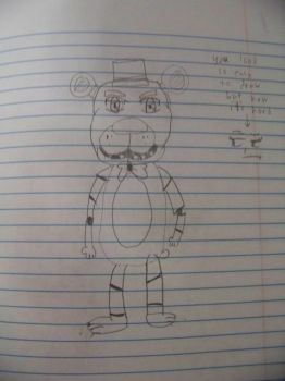 my drawing of freddy (read what next to it) by minepearl