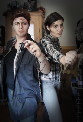Sam and Dean cosplay by stjaimy