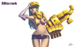 [WTF] BLITZCRANK (female) by waltre