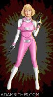 G.I. Joe Transformers Arcee Only Human art by AdamRiches