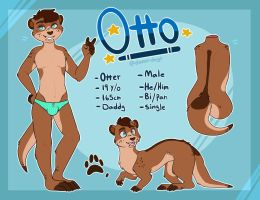 Otterboy ref sheet 2017 OLD by damn-days