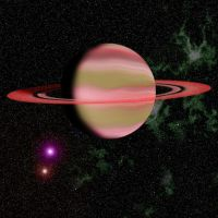 Red Ringed Planet by Gorpo