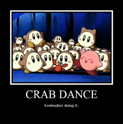 Motivational poster Crab Dance by userup