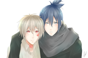 No. 6.- Shion and Nezumi.- by xBulletproofCatx