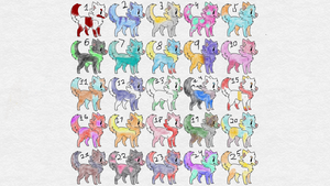 (OPEN 2/25) Free Pup Adopts by UmbreonPlanet