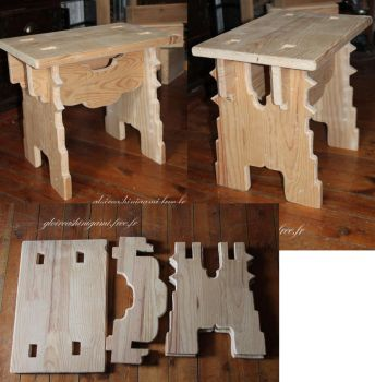 Tabouret medieval by GreatShinigami