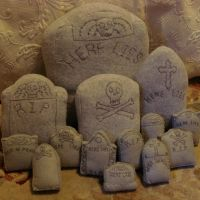 Personalized tombstone plushes by silentorchid