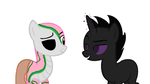 Zombie Ponyman and Enderpony by Cupcake2424