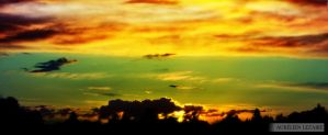 Colorful Sunset in Kain by c0rr0si0n