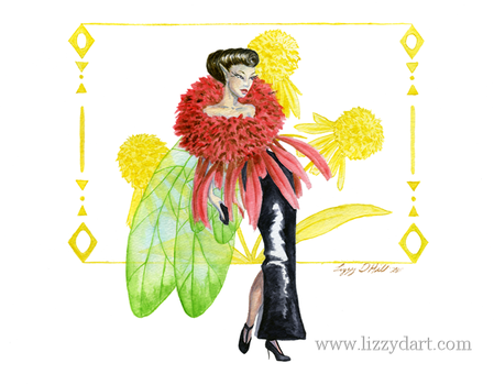 Cone Flower Fairy by Lizzy-D