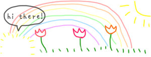 Rainbow Doodle FB Banner by zara-leventhal