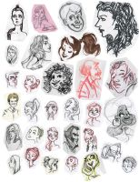 Face sketches by SashaBalazh