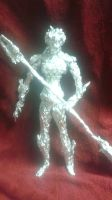 Proxima Midnight - Aluminum Foil Sculpture by TheFoilGuy