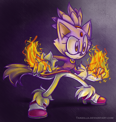 Fire cat by Tanzilla