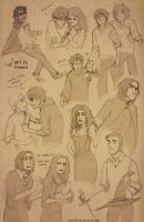 Potter Sketches by conniiption
