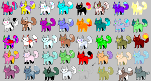 1 point cat adoptables OPEN by Monster-Blue-Cat