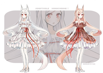 [CLOSED] Adoptable: Monochrome I by Staccatos