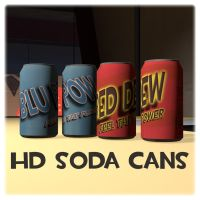 HD soda can [SFM Workshop item] by Nikolad92