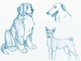 Random Dogs by nocturneofshadows