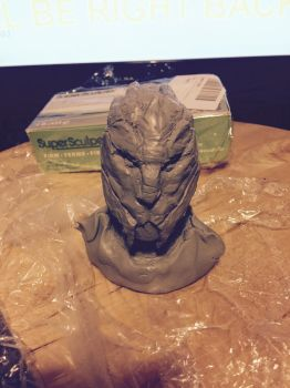 Turian sculpt 1 by mad-dragon249