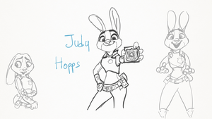 Zootopia - Judy Hopps - Sketch by crazyrems