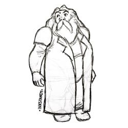 Hagrid fan art  by Inkstandy