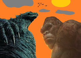 Godzilla and Kong Protector of the Humans by MnstrFrc