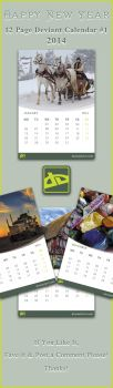 12 Page DA Calender-2014 #1 by SaimGraphics